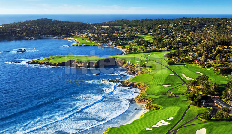 Pebble Beach California Artificial Turf Golf Course